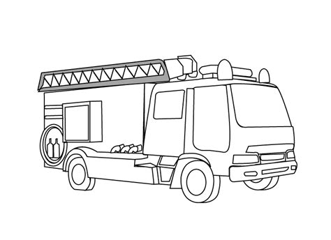 Printable Big Fire Truck Coloring Pages Fire Engine