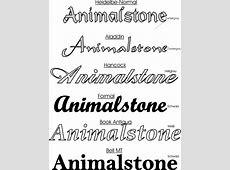 Animalstone Schriftarten & Schriftfarben