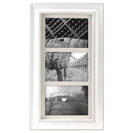 5x7 matted frame 3 opening 5x7 barnside white matted picture frame