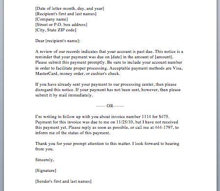 payment reminder letter smart letters