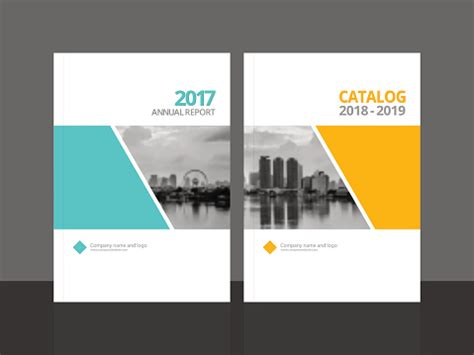 cover design  annual report  business catalog