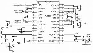 Pam8009 Typical Application Reference Design
