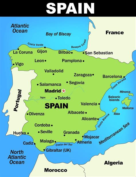 map  spain guide   world