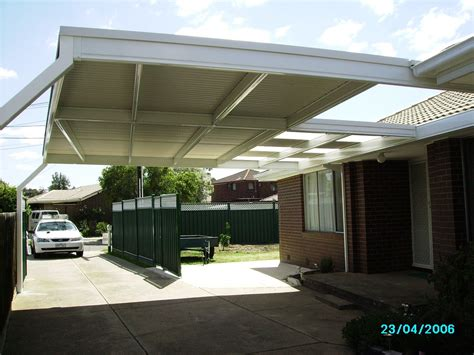 skillion roof carport skillion root structure   cost