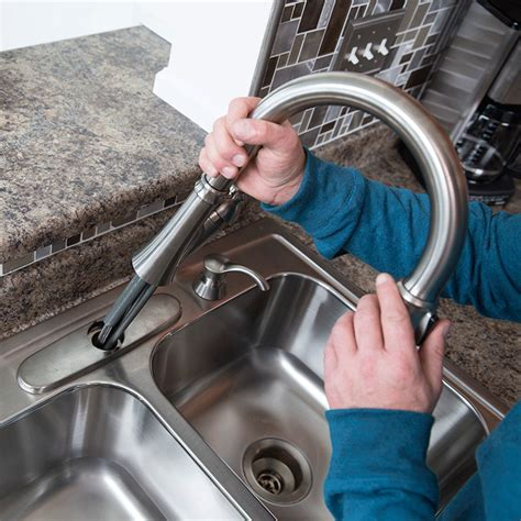 installing a kitchen faucet how to install a kitchen faucet