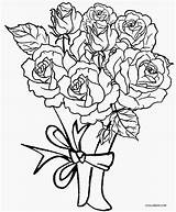 Coloring Pages Roses Rose Printable Cool2bkids sketch template