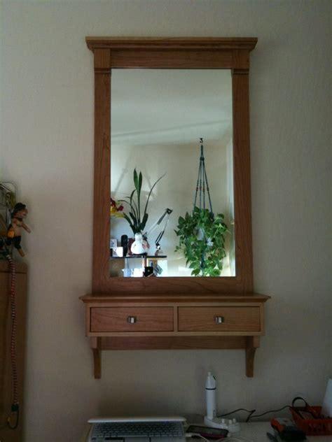 wall mirrorshelfdrawer  plantek  lumberjockscom