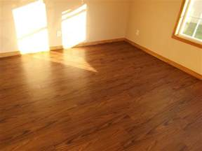vinyl plank flooring with brown color for small room spaces with white wall interior