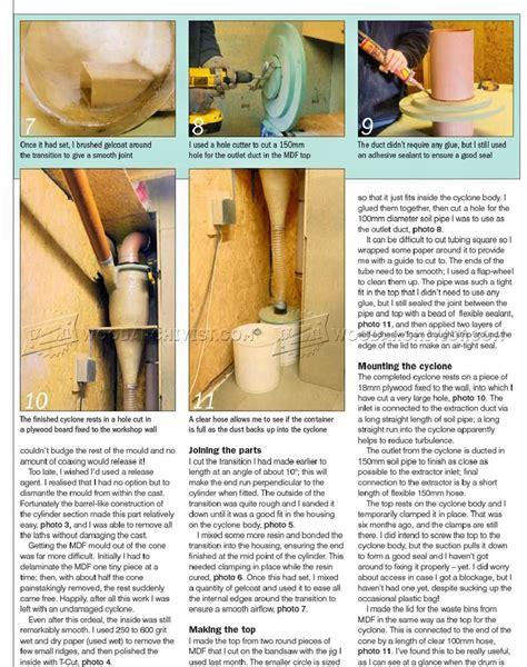 diy cyclone dust collector woodarchivist