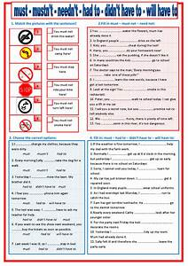 Must, -, Have, To, Exercises, Free, Printable, Must