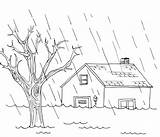 Flood Coloring Pages Disaster Favorite Natural Getdrawings Gawker sketch template