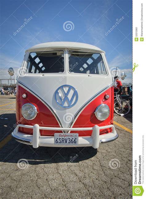 vw deluxe microbus  type  samba bus editorial photo image