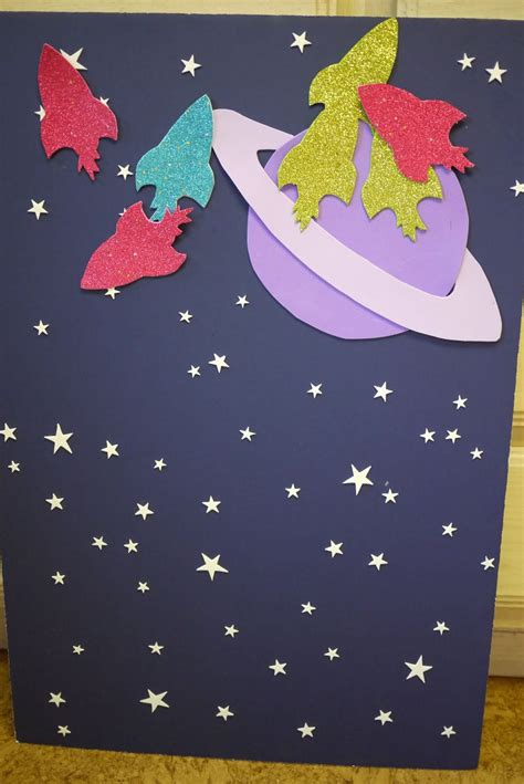 Product Of The Week A Beautiful Space Themed Set Made Of Wood Magnets by Outer Space Pin The Rocket On The Planet Themed
