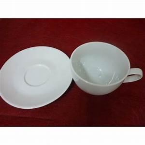 Tasse Petit Déjeuner : tasse dejeuner village 65cl anse en porcelaine blanche ~ Teatrodelosmanantiales.com Idées de Décoration