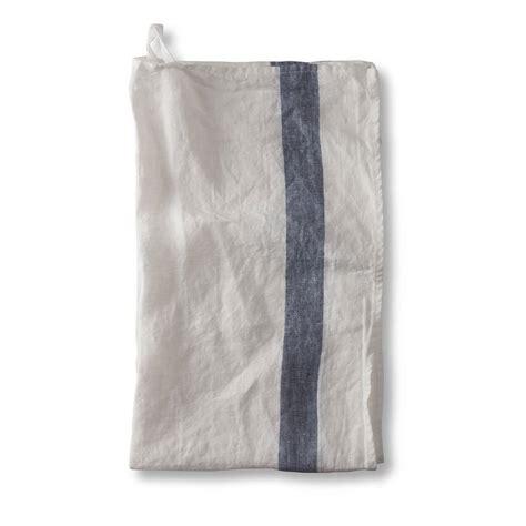 french stripe linen tea towel   linen works