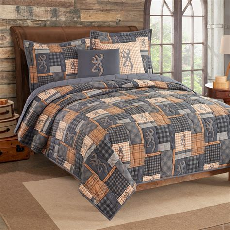 Quilt And Sham Set by Buckmark Patch Quilt And Sham Set Blanket Warehouse