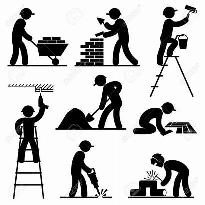 Builder Vector Builders Clipart Icons Illustration Construction