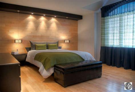 chambre a coucher en coin décoration chambre à coucher avec mur de