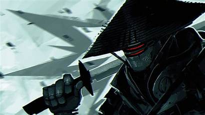 Samurai Robot Katana Digital Artwork Kikuchiyo Desktop