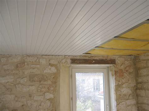 plafond pvc cuisine lambris pvc clipsable maison travaux