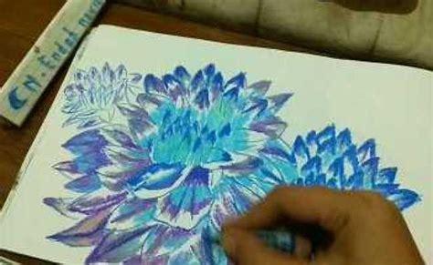 sketsa menggunakan pastel