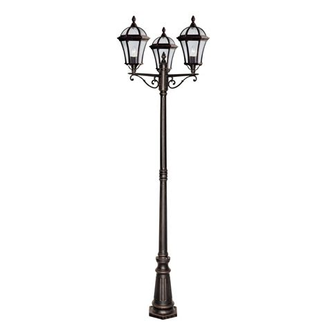 searchlight 1569 3 rustic brown outdoor l post
