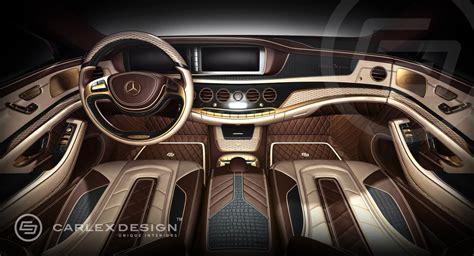 k k interiors carlex mercedes s class interior 24k gold and crocodile