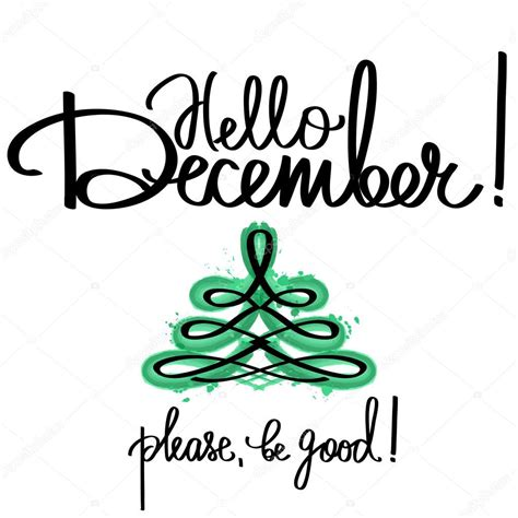 Handmade Vector Calligraphy And Text Hello December