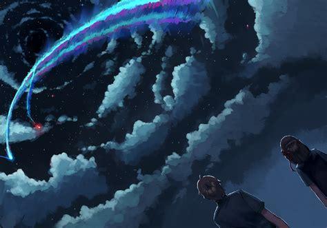 Makoto Shinkai Wallpaper Hd Makoto Shinkai Kimi No Na Wa Wallpaper Full Hd Free Download