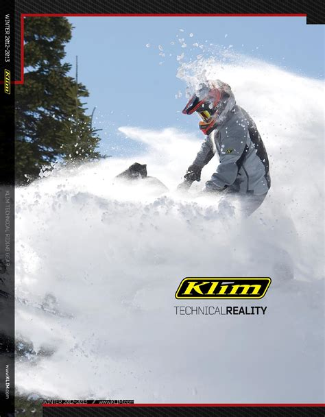Klim Catalog Winter 2012 2013 by KLIM Issuu