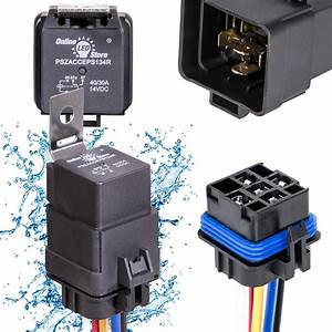 Ols 40  30 Amp Waterproof Relay Switch Harness Set