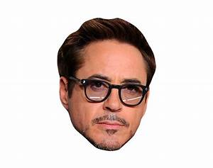 Robert Downey Jr VIP Celebrity Cardboard Cutout Face Mask