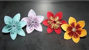 Fleur De Papier : diy faire des fleurs en papier 5 ou 6 p tales youtube ~ Farleysfitness.com Idées de Décoration