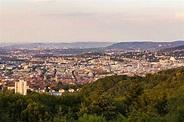 Germany, Baden-Wuerttemberg, Stuttgart, Cityscape with TV ...
