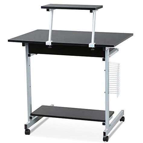 small computer desk with printer shelf go2buy small spaces computer desk with keyboard tray