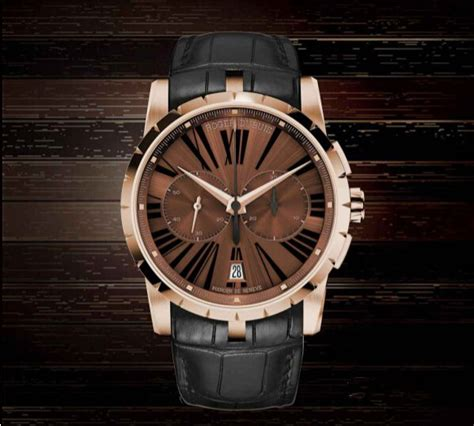 Roger Dubuis Matic Brown Rubber roger dubuis replica top brands panerai watches tag