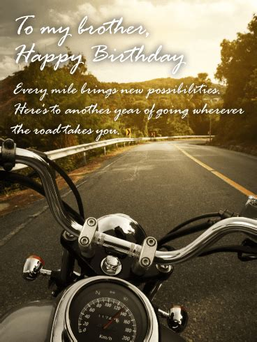 great journey happy birthday card  brother birthday greeting cards  davia