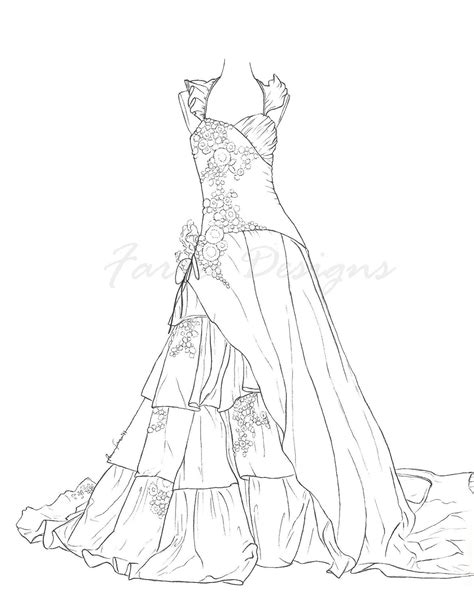 Wedding Dress Coloring Sheets Barbie Night Only Pages   grig3.org