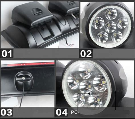 led roof mounted spotlight   lights  road