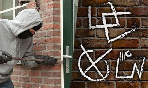 burglar code  signs  symbols marking  home