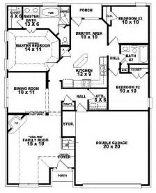 3 bedroom house plans one story 654107 one and a half story 3 bedroom 2 bath