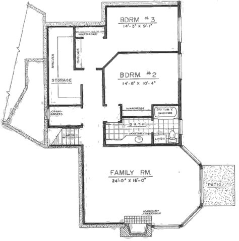 daylight basement floor plans luxury master suite w daylight basement