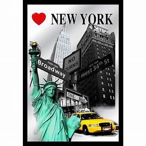 New York Deko : miroir i love new york highlights symboles de new york achat vente miroir plastique bois ~ One.caynefoto.club Haus und Dekorationen