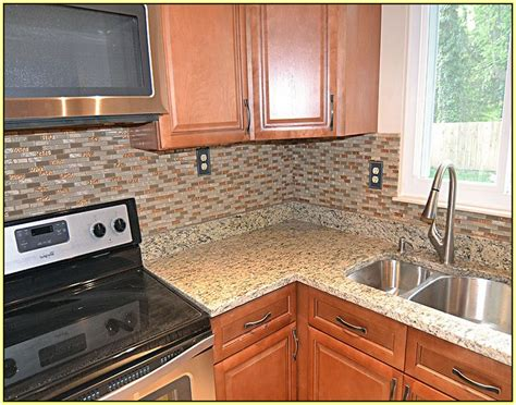 Best Backsplashes With Granite Countertops : Glass Backsplash Ideas For Granite Countertops