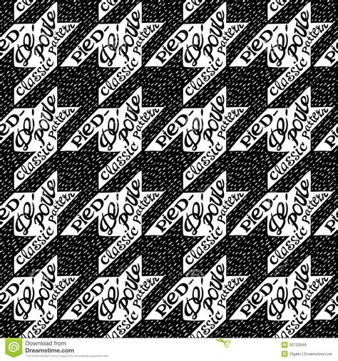 seamless classic fabric houndstooth pied de poule pattern
