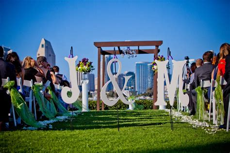 wedding aisle decor monogram letters  bride  groom  entry attach ribbon  close