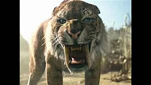 Saber Tooth Cat Vs Dire Wolf - YouTube