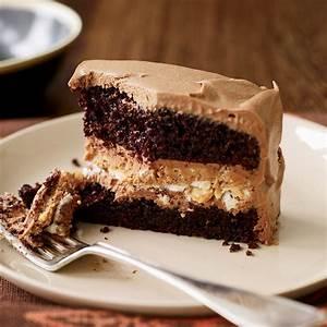 Crunchy Milk Chocolate-Peanut Butter Layer Cake Recipe ...