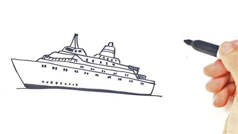 Ferry Boat Drawing Easy by Como Dibujar Un Barco Grande Para Ni 241 Os Dibujo De Barco