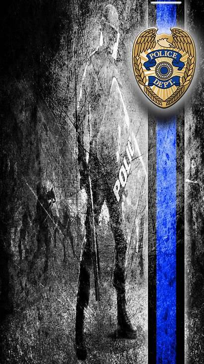 Thin Line Police Wallpapers Symbols Backgrounds Wallpaperaccess
